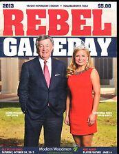 2013 Rebel Gameday Magazine Ole Miss vs. Idaho October 26 2013 EX 010217jhe
