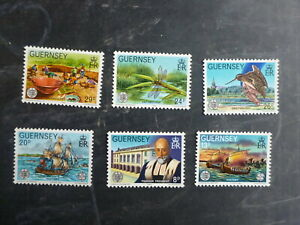 GUERNSEY 1982 EUROPA HISTORIC EVENTS SET 6 MINT STAMPS