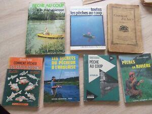 PECHE – lot de 7 livres pêche au coup - anglaise - rivière