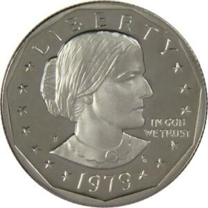 1979 S Type 2 Clear S Susan B Anthony Dollar Choice Proof SBA $1 US Coin