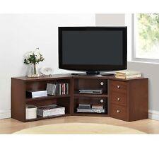 Corner TV Stand Wood Flat Screen Entertainment Center Media Console Cabinet Oak