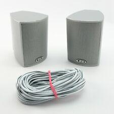 ELTAX Spectrum 10101 Surround Sound Speakers - Silver | Brackets & 10m Cable