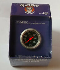 Splitfire (mech) oil temperature gauge, 40-170c, black face, (52mm) 216141BC