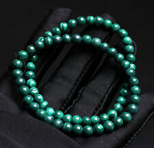 Malachite Gemstone Beads Bracelet Aaaa 5.2mm 2pcs Genuine Natural Green