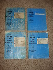 1988 FORD LINCOLN MERCURY SHOP MANUAL SET SERVICE BOOKS MUSTANG T-BIRD & MORE
