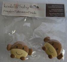 Koala Baby KB kids Monkey Safari Jungle Animal Curtain Rod Finials Brown Tan