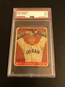 1933 Goudey Ted Lyons #7 PSA FR 1.5 HOF