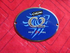 """CARLING """" C2 """" STAINLESS STEEL  OVAL FLAT  FONT BADGE"""