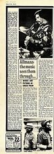 (Sds)24/3/1973Pg17 The Allman Brothers Article & Picture
