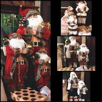 STUNNING TRADITIONAL XL SANTA CLAUS FATHER CHRISTMAS XMAS DECORATION FIGURE