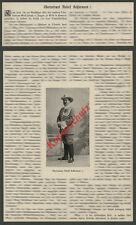 DOA Schutztruppe Todesmeldung Olt. Kohlermann Uniform Säbel Neuburg Donau 1903!!