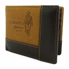 Mens Genuine Leather Cowboy Wallet Trifold ID Card Holder With Coin Zip Purse UK