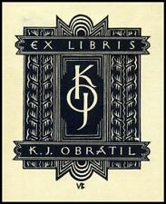 Burda Vladislav 1923 Exlibris X2 Bookplate 47