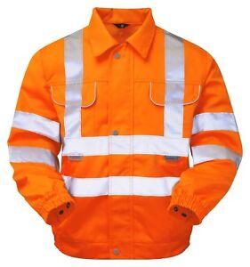 PR338 Pulsar Teflon Coated Polycotton Jacket Orange Rail GO/RT Hi-Vis 3XL