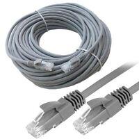 30M RJ45 Cat5E Premium LAN Network Ethernet ADSL Modem Router UTP Patch Cable UK