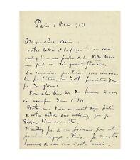 FALLA Manuel de. Compositeur espagnol. Lettre autographe (en français), 1er mai