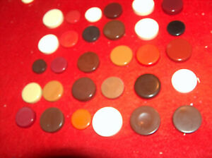 Backgammon Pieces 1 1/8 3/4 5/8 1 3/8 Magnetic 3/16th Cream Brown Red