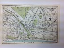 Bournemouth Town/Street Plan,  1926 Vintage  Map, Bartholomew, Atlas