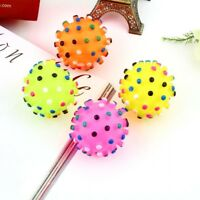 Dogs For Squeaky Bite Spikey Chew Puppy Colorful Food Dog Pet Ball Toy