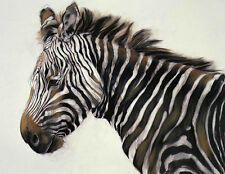 Exquisite Oil painting wild animal Zebra very beautiful standing Hand painted