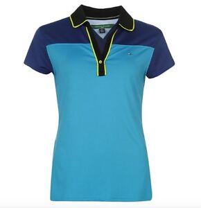 Tommy Hilfiger Golf Damen Polo Nula Blau Hellblau alle Größen Neu mit Etikett