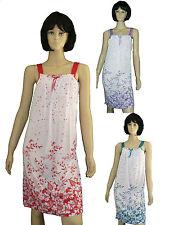 sommerliches Damen Nachthemd kurz Träger Gr.M-XXXL luftig Schlafshirt BW