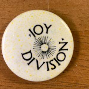 ORIGINAL VINTAGE JOY DIVISION IAN CURTIS BADGE