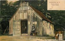 Auburn New York~William Claxton Ocean Driftwood House~Old Man on Bench~1905