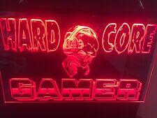 Gamer Custom Skull Led Neon Light Sign Game Room , Bar , garage Sign