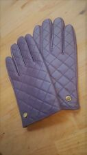 IMAN Platinum Rock the Runway Genuine Leather Quilted Gloves, Purple, S