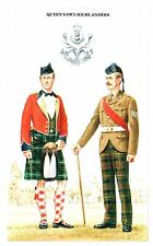 Postcard Military Uniforms Queens Own Highlanders The British Army Series 7
