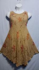 Women Clothing Sundress Summer Beach Sun Dress Khaki Orange Free Size