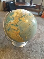 Vintage Nystrom Globe High Relief 16 Inch World Sculptural Map 1979 to 1984