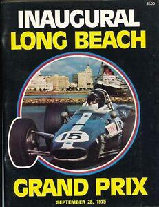 Long Beach Grand Prix Auto Race Program 9/28/1975-1st race-Andretti-VF