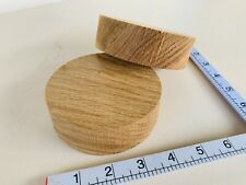 WOODTURNING FIGURED Character Burr Oak Craft Plinth Candle Holder/ Feature X2