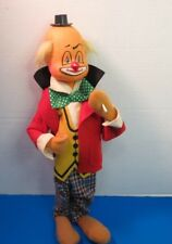 "Vintage 14"" Soft Sculpture Smoking Clown Fully Clothed"