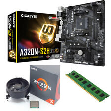 AMD Ryzen5 1600 3.6Ghz + Gigabyte A320M-S2H Motherboard + 8GB Pc Bundle