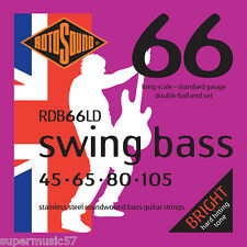 Double Rotosound RDB66LD Ball End Swing bass guitar strings 45-105 std gauge
