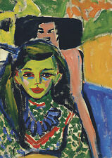Fränzi in front of Carved Chair Ernst Ludwig Kirchner Kunst Mädchen B A3 01689