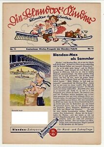 Blendax Kinder - Blendax Max - Heft 11 mit Comic  - ca. 1938/40 ****