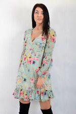 Vestito Donna GAUDì 811BD15004 Multicolor a Fiori Misura IT 42 Manica Lunga