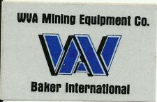 Wva Mining Equipment Co. Baker Vintage Unused Mining Hard Hat Decal Sticker