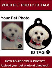 """""""YOUR PET PHOTO"""" Pet Dog Cat ID Tag or Keychain Personalized Pet Lovers Gift"""