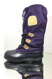 SOREL Women's Snowlion Winter Snow Boots, Purple (Size 6)