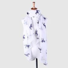Gift Warm Fashion Running Horse Voile Scarf Shawl Wrap Stole Print Animal
