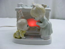 Precious Moments Porcelain Welcome Santa Nite Lite Night Light 1993