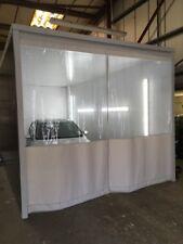 Tejido translúcido y claro garaje pintura Compresor de aire/Cortinas 20 Pies X 9 pies