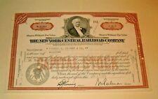 Common Stock THE NEW YORK CENTRAL RAILROAD COMPANY 1955  DA 40 SHARES