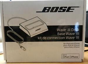 Bose Wave 3 Dock für I Phone und Ipod neu OVP Garantie