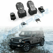 Hood Latches Hood Lock Catch Latches Kit for 2018-20 Jeep Wrangler JL with Lock
